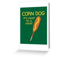 Meat on a Stick Greeting Card