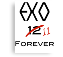 EXO 11 forever Canvas Print