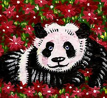 Panda Resting in Red by IanLeeOliver