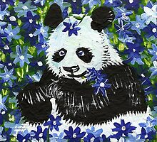 Panda Bear in Blue by IanLeeOliver