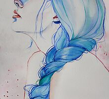 blue haired girl #2 by Thealiceproject