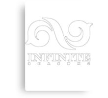"""Infinite """"white"""" Canvas Print"""