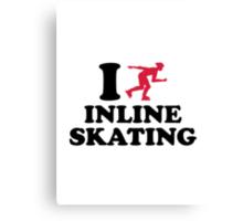 I love Inline Skating Canvas Print