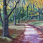 'AN AUTUMN WALK (AROUND BASS LAKE)'  by Jerry Kirk