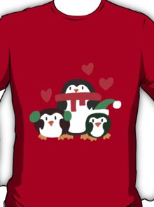 Holiday Heart Penguins T-Shirt