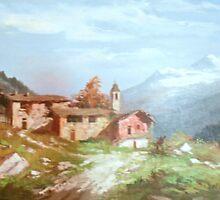 Italian village by JennyLeslie