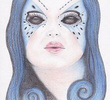Blue Butterfly Girl by -LAM-