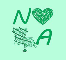 I heart NOLA (Green) by StudioBlack
