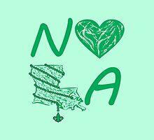 I heart NOLA (Green) by StudioBlack
