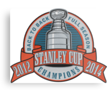Back to Back Full Season Champions - Retro (Stitched) Metal Print