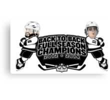 Back to Back Full Season Champions - Cartoon Canvas Print