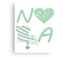 I heart NOLA (Mint Green) Canvas Print