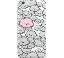 Kawaii Grey Little Clouds iPhone Case/Skin