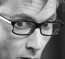 Tenth Doctor in Glasses Black and White by Themaninthefez