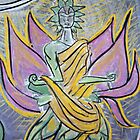 Astral Angel (from Chalk Meditation #4) • 2004 by Robyn Scafone