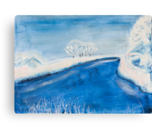 Landscape in winter Canvas Print