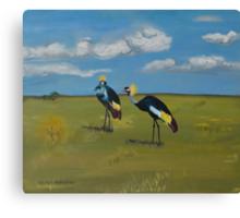 Royal cranes Canvas Print