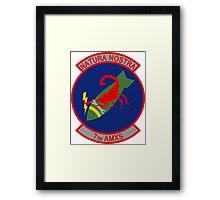7th Aircraft Maintenance Squadron - AMXS - Natura Nostra Framed Print