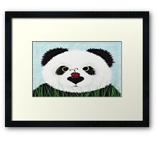 The Panda Bear And His Visitor Framed Print