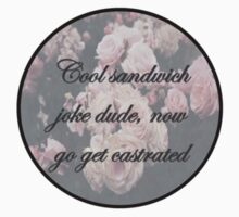 """Cool sandwich joke dude, now go get castrated"" by Emmie Teniola"