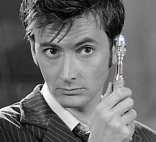 Tenth Doctor and His Sonic by Themaninthefez