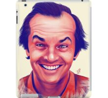 Smiling young Jack Nicholson digital painting iPad Case/Skin