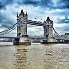 Cloudy day at London's Tower Bridge  by ProjectSpearman