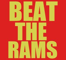 San Francisco 49ers - BEAT THE RAMS - Gold Text by MOHAWK99