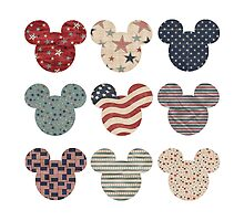 Mickey Mouse Heads ~ Patriotic by sweetsisters