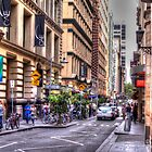 Street of Melbourne by Leonie Morris