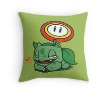 Fire Flowersaur Throw Pillow