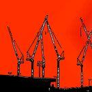 thee Cranes ov Brisbane - thee Orange SkY by craneman