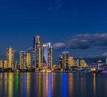 Surfers Paradise Skyline, Gold Coast, Australia by Ann Pinnock