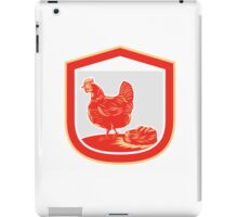 Hen Chicken Nest Egg Shield Retro iPad Case/Skin