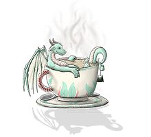 Tea Cup Dragons: Peppermint by MeaKitty