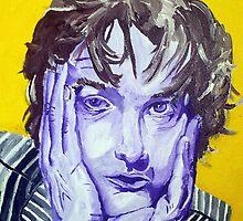 Jarvis Cocker Acrylic on Canvas by Sarah Horsman