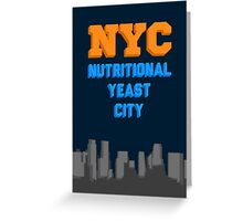 Nutritional Yeast City Greeting Card