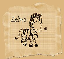 Baby zebra by Trish Loader