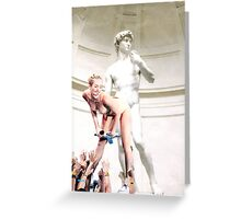 Miley Cyrus and Michaelangelo Greeting Card