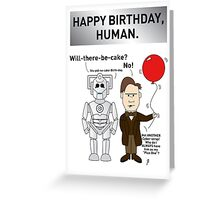 A Doctor Who/Cyberman Birthday Card Greeting Card