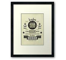 Hipster Hodor  Framed Print