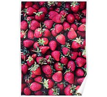 Summer Strawberries Poster