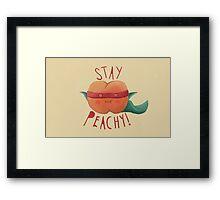 stay peachy  Framed Print