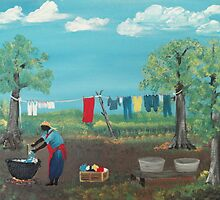 Wash Day 1951 by Marion McCann