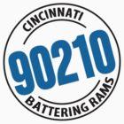 90210 from the Cincinnati Battering Rams T-Shirt by NineOh