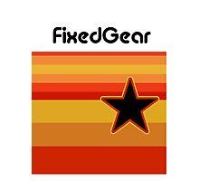 Fixed Gear Retro Star Photographic Print