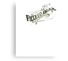 Fixed Gear Sketch Canvas Print