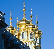 Catherine Palace Spires - Pushkin - Russia by Pete Edmunds