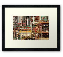 Steampunk - Industrial illusion Framed Print