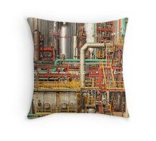 Steampunk - Industrial illusion Throw Pillow